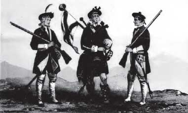 Uniform of the Cameronians circa 1713