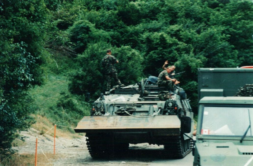 British Royal Engineers Armoured Bulldozer in Kosovo