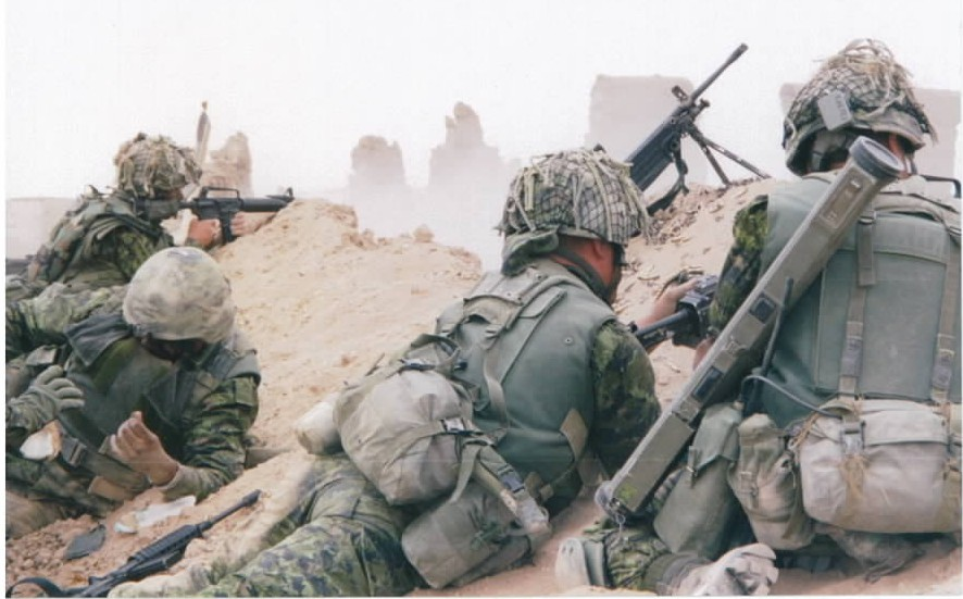 Canadian soldiers of  Princess Patricia's Canadian Light Infantry during live-fire exercise at Tarnac Farms in Afghanistan