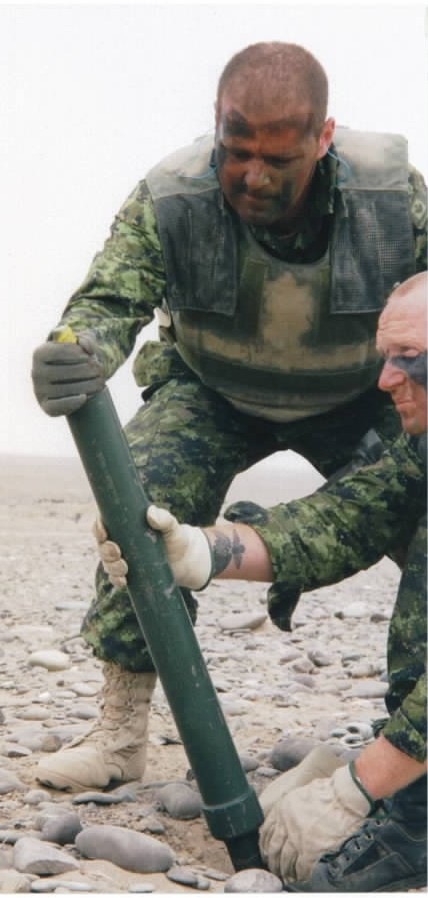Canadian 60mm mortar in Afghanistan
